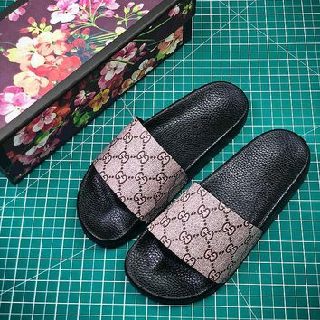 Gucci GG Supreme Tiger Slide Sandals #3  - Best Online Sale