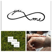 Infinity - temporary tattoo (Set of 6)