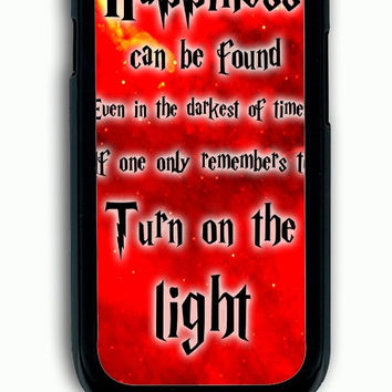 Samsung Galaxy S3 Case - Hard (PC) Cover with Harry Potter Quotes Happiness Can be Found Even in The Darkest of Times If One Remembers Plastic Case Design