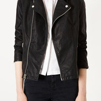 Oversized Clean Biker - Jackets & Coats  - Clothing