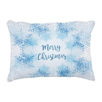 Throw Pillow Merry Christmas with Snow