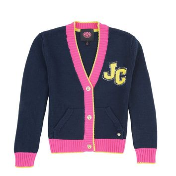 Girls Color Block Sweater Cardigan by Juicy Couture