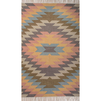Jaipur Rugs IndoorOutdoor Tribal Pattern Multi Polyester Area Rug DES02 (Rectangle)