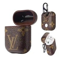 LV tide brand airpods wireless earphone box cover shatter-resistant shell (no headphones)