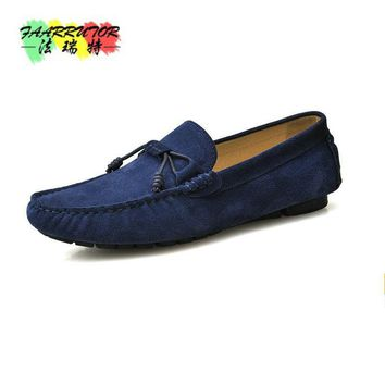 db3d60912f1 2017 Suede Leather Casual Men s Handmade Driving Shoes Slip On P