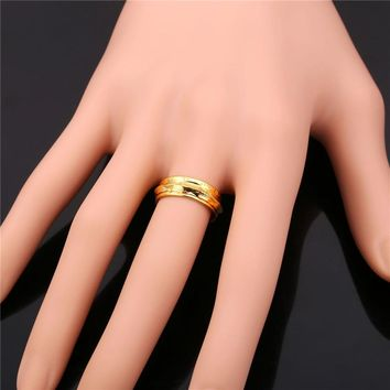 Finger Spinner Rings Gold Color Classic Fashion For Men/Women