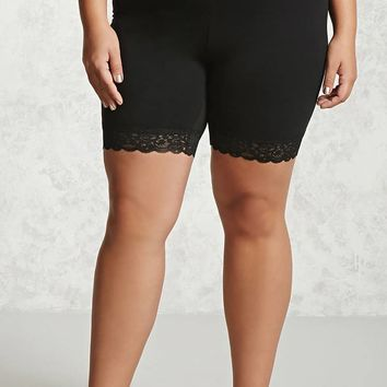 Plus Size Stretch-Knit Shorts