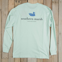 Southern Marsh Authentic Long Sleeve Tee- Ocean Green
