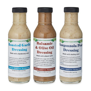 Wine Infused Salad Dressing - Set of 3 | vinaigrette
