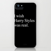 I WISH HARRY STYLES WAS REAL iPhone & iPod Case by rebel mermaid