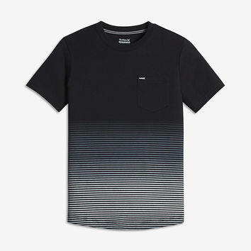 The Hurley Ombre Stripe Big Kids' (Boys') T-Shirt.