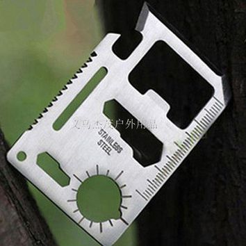 ONETOW Outdoor Camping Portable Multifunction Saber Travel Emergency Survival Pocket Card Knife Saber First aid kit Accessories