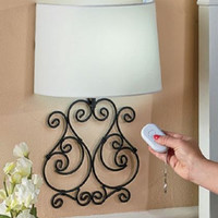 Wall Lamp Sconce Metal Scrolled Remote Controlled LED Bedroom Living Room Hall