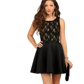 Black Lace Illusion Sleeveless Top