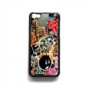 Sticker Bomb Supreme and illest For iphone 5c case