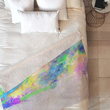 Mareike Boehmer Splash 1 Fleece Throw Blanket