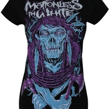 Motionless In White Indian Zombie Ladies Black T-Shirt - Buy Online at Grindstore.com