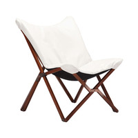 Collapsible Leatherette Chair in White