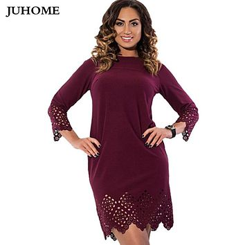 6XL 5XL 4xl Women clothes tunic dresses For Fat 2017 Summer Style Plus Size office Large Size Casual Sheath vestidos robe femme