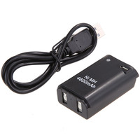 4800mAh Battery Pack USB Charger Cable For Xbox 360 Wireless Controller NI5L