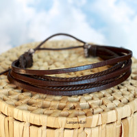 Brown or Black Leather Bracelet
