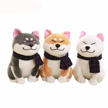 Wear scarf Shiba Inu dog plush toy
