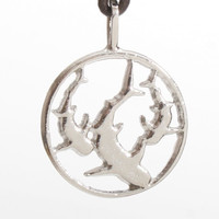 Surfer Necklace with Shark Sterling Silver Pendant