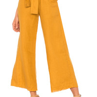 FAITHFULL THE BRAND Messina Pants in Plain Marigold