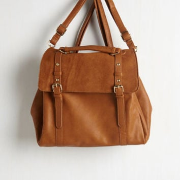 Boho Stop, Rock, and Roll Convertible Bag in Cognac by ModCloth