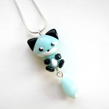 Ice Fox Necklace Cute Fox Charm Fox Pendant
