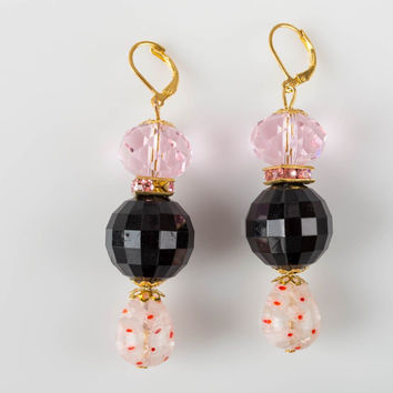 Unusual homemade plastic earrings crystal earrings evening jewelry designs