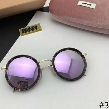 MIUMIU round polarizer with stylish and versatile face F-A-SDYJ #3