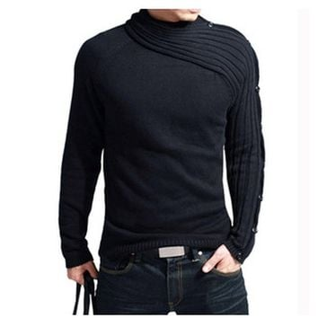 New Mens Autumn wool sweater knit thickened Korean cardigan sweater Coat