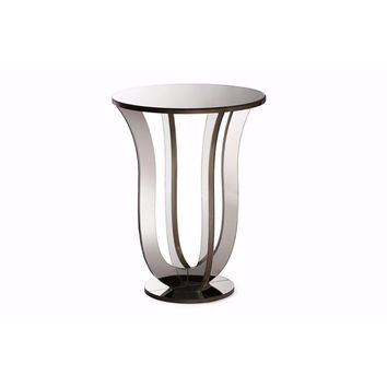 Kylie Modern and Hollywood Regency Glamour Style Mirrored Accent Side Table By Baxton Studio