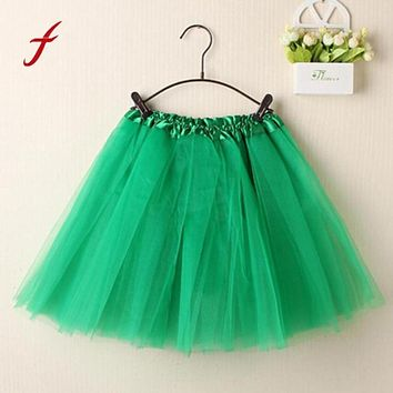 women skirts 2017 summer Women Ballet adult Tutu Layered Organza Lace Mini Skirt midi skirt jupe tulle falda plisada 12 Colors