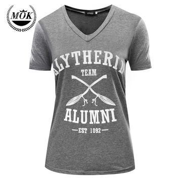 Team Slytherin Alumni Shirt Harry Potter Shirts V-Neck Unisex S M L XL Free Shipping 2016 New