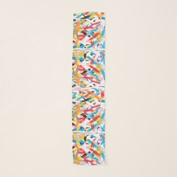 Positive Vibes Abstract Art Chiffon Scarf