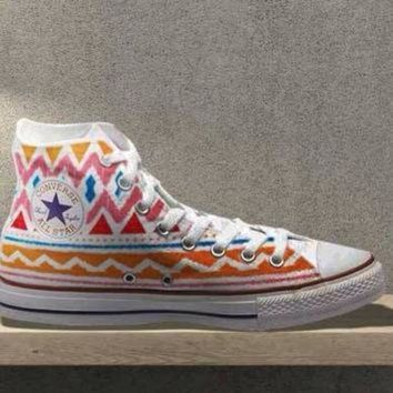DCCK1IN tribal aztec painted shoes converse custom made