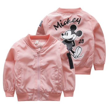 Pink Mickey Mouse Bomber Jacket