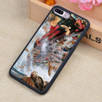 HOGWARTS EXPRESS TRAIN HARRY POTTER Printed Soft Rubber Phone Cases For iPhone 6 6S Plus 7 7 Plus 5 5S 5C SE 4 4S Cover Shell