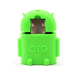 Micro USB OTG Adapter Mini Robot Shape