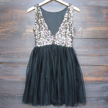 sugar plum dazzling sequin with tulle darling party dress - (more colors)