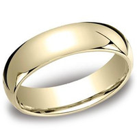 Benchmark Traditional 6MM Comfort Fit Plain Wedding Band