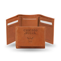 Chicago Bulls  Tri-Fold Wallet (Pecan Cowhide)