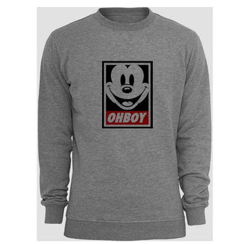 mickey mouse sweater Gray Sweatshirt Crewneck Men or Women for Unisex Size with variant colour