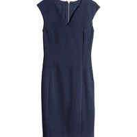 H&M - Sleeveless Dress - Dark blue - Ladies