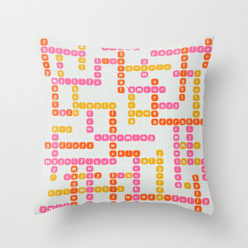 Crossword Pillow Case