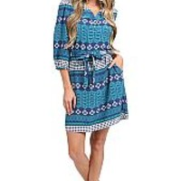 Annie Griffin Mechell Dress Mosaic Print : Ginger Bethesda