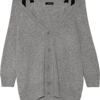 Theory - Saline B off-the-shoulder cashmere cardigan