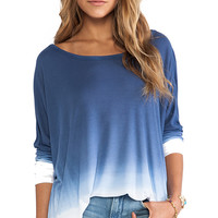 Saint Grace Omega Oversized Top in Blue